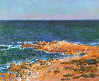 La Grande Bleue a Antibes, c.1888 by Claude Monet