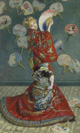 La Japonaise (Camille Monet in Japanese Costume), 1876 by Claude Monet