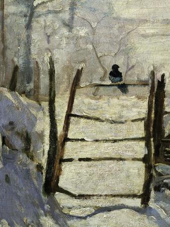La Pie, the Magpie, 1868-69, Detail. Painted at Etretat, France