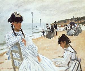 La Plage a Deauville by Claude Monet