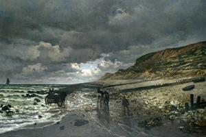 La Pointe De La Hève at Low Tide by Claude Monet