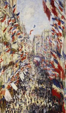 La Rue Montorgeuil Paris, c.1878 by Claude Monet