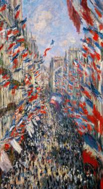La Rue Montorgeuil, Paris, During the Celebrations of June 30, 1878 by Claude Monet