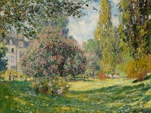 Landscape-The Parc Monceau by Claude Monet