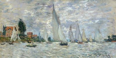 Le barche, regate ad Argenteuil by Claude Monet