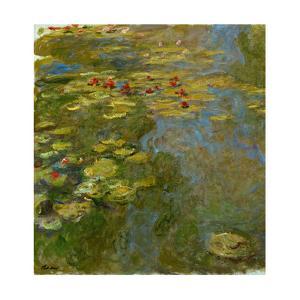 Le bassin aux nympheas, 1917-1919 Canvas, 130 x 120 cm Inv.5165. by Claude Monet