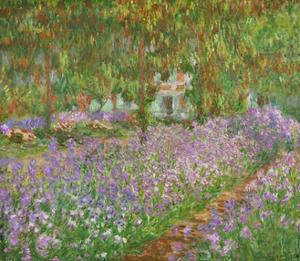 Le jardin a Giverny. by Claude Monet