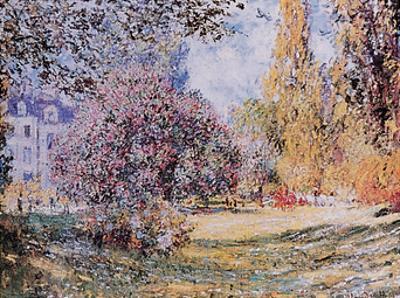 Le Parc Monceau Paris by Claude Monet