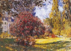 Le Parc Monceau by Claude Monet