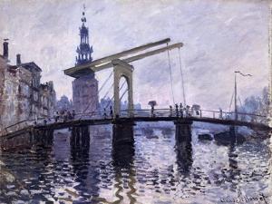 Le Pont, Amsterdam, 1870-71 by Claude Monet
