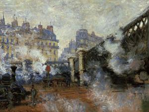 Le Pont De L'Europe, Gare Saint-Lazare, 1877 by Claude Monet