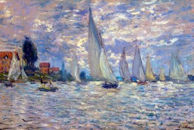 Claude Monet Les Barques Plastic Sign