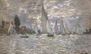 Les Barques, Regates a Argenteuil by Claude Monet
