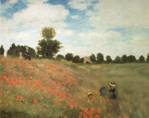 Les Coquelicots by Claude Monet