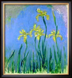 Les Iris Jaunes by Claude Monet