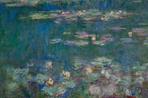 Les Nympheas, green reflections-water lillies, green reflections. Inv. 20102. by Claude Monet