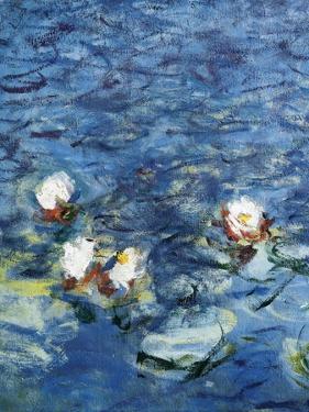 Les Nympheas : Le Matin (detail) 1916-1926 by Claude Monet
