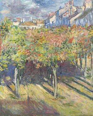 Les Tilleuls a? Poissy, 1882 by Claude Monet