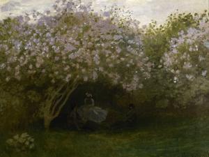 Lilas gris, dit le repos sous les lilas by Claude Monet