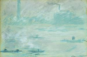 London, Boats on the Thames by Claude Monet