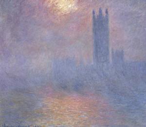 Londres, le Parlement, trouée de soleil dans le brouillard by Claude Monet