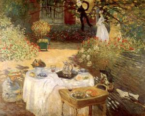 Luncheon in the Garden by Claude Monet