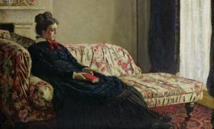 Meditation, or Madame Monet on the Sofa, circa 1871 by Claude Monet