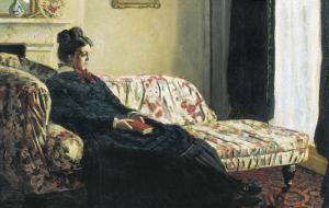 Meditation, or Madame Monet on the Sofa by Claude Monet