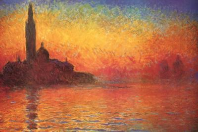 Monet Dusk Venice by Claude Monet