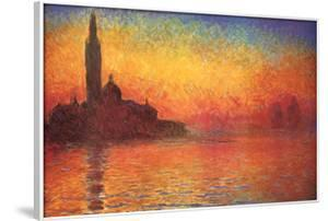 Monet Dusk Venice by Claude Monet
