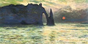 Monet- Etretat Sunset, C. 1883 by Claude Monet