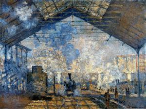 Monet: Gare St-Lazare, 1877 by Claude Monet
