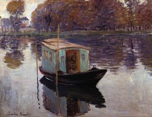 Monet's Studio Boat by Claude Monet
