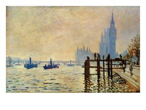 Monet: Thames, 1871 by Claude Monet