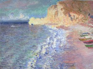 Morning at Etretat, 1883 by Claude Monet