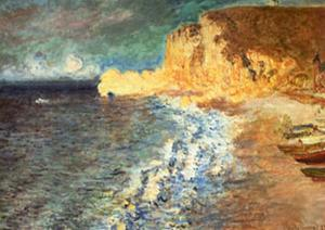 Morning at Etretat, c.1883 by Claude Monet