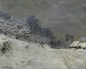 Near Honfleur-Snow, 1867 by Claude Monet