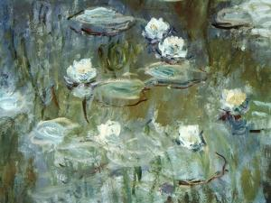 Nymphéas, 1910, (Ausschnitt) by Claude Monet