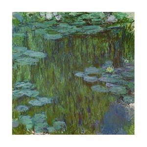 Nympheas a Giverny-waterlilies at Giverny,1918 by Claude Monet