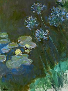 Nympheas and agapantes,1914-1917 Canvas,140 x 120 cm Inv. 5084. by Claude Monet