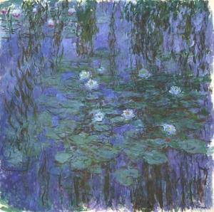 Nymphéas Bleus (Blue Water Lilies) by Claude Monet by Claude Monet