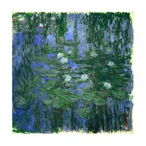 Nympheas bleus (Blue water-lilies). Oil on canvas (1916-1919) 200 x 200 cm R. F. 1981-40. by Claude Monet