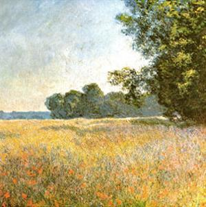 Oat Fields by Claude Monet