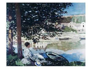 On the Bank of the Seine, Bennecourt, 1868 by Claude Monet