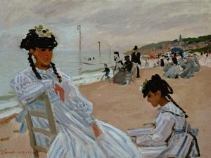 On the Beach at Trouville, 1870-71 by Claude Monet