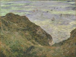 On the Cliff at Pourville by Claude Monet