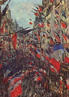 Claude Monet (Paris, Rue Saint-Denis, Celebration of National Day) Art Poster Print