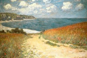 Path Through the Corn at Pourville Claude Monet by Claude Monet