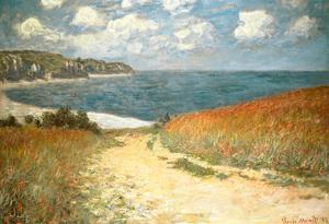 Path Through the Corn at Pourville by Claude Monet