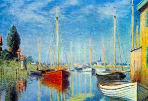 Claude Monet Pleasure Boats at Argenteuil Art Print Poster